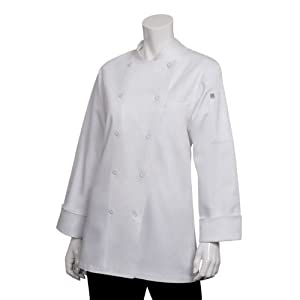 Chef Works WECC-WHT St. Tropez Executive Chef Coat, White, Size 2XL