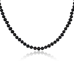 Sterling Silver Peacock Freshwater Cultured Pearl Necklace (6.5-7mm), 18""