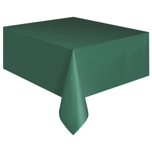 Plastic Table Cover Rectangle -Forest GreenB001D5DQGG : image