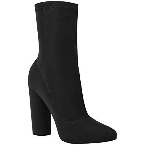 femmes-talons-blocs-hauts-elastique-lycra-bottine-coupe-large-celebrite-taille-femmes-lycra-noir-36