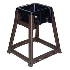 Kidsitter High Chair, Dark Brown/Blue