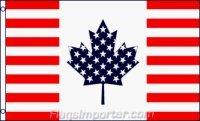 USA Canada Friendship Traditional Flag (Canada Usa Flag compare prices)