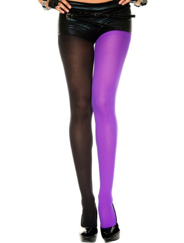 Opaque Plus Size Jester Tights - QUEENSIZE