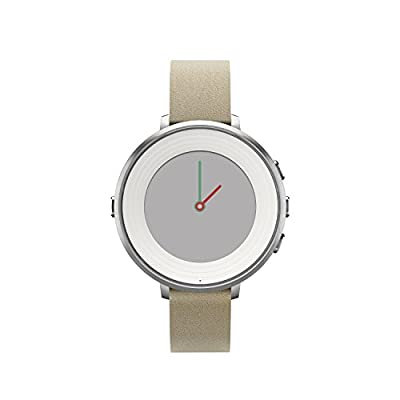 Pebble Technology Corp Smartwatch for Apple & Android Devices - Retail Packaging - Silver/Stone