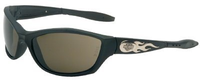 Harley-Davidson HD1001 Safety Glasses with Black Frame and Gray Tint Anti-Fog Hardcoat Lens
