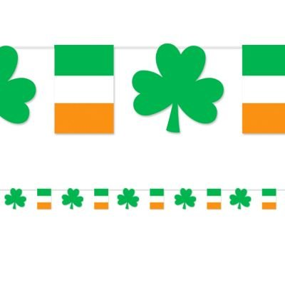 St. Patrick's Day Paper Pennant Banner 18ft