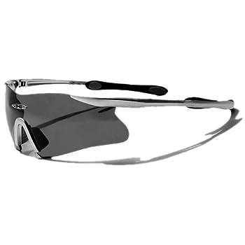 X-Loop Lunettes de Soleil - Sport - Cyclisme - Ski - Conduite - Motard / Mod. 3555 Gris / Taille Unique Adulte / Protection 100% UV400