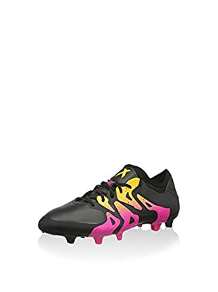 adidas Botas de fútbol X 15.1 FG/AG (Negro / Rosa)