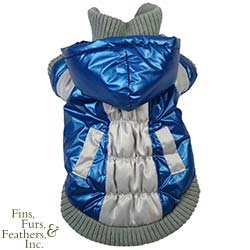 Pet Life Aspen Vontage Dog Ski Coat - Blue & Beige - X-Small