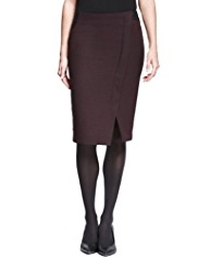 Autograph Twill Wrap Skirt