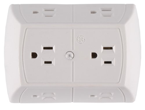 GE Grounded Adapter-Spaced Six-Outlet Tap
