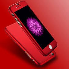 MVE (TM) 360 Degree APPLE IPHONE 5/5S Front Back Cover Case WITH TEMPERED _RED