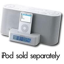 Sony ICFC1iPMK2WHT Speaker Dock/Clock Radio for Universal iPod (iTouch & iPhone) White