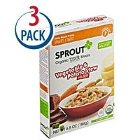 Sprout Organic Baby Food Toddler Meal Vegetable and Potato Stew with Beef -- 6.5 oz Each / Pack of 3