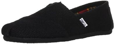 TOMS Men's Classic Woven Slip-On,Black,7 M