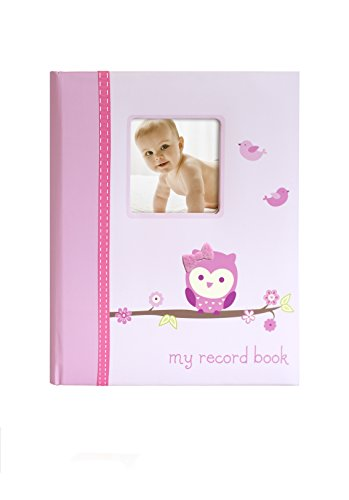 Little Blossoms Who's Cute Owl Babybook, Pink - 1