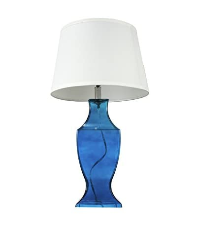 A & B Home Ralston Table Lamp, White/Blue
