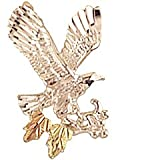 Sterling-silver Yellow-gold Black Hills Gold EagleTie-tac/Lapel Pin ~ Rich Peel
