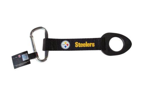 Pittsburgh Steelers Bottle Holder Carabiner Strap Tag NFL Lanyard Keychain Clip