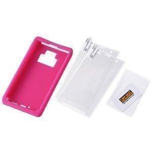 レイ・アウト docomo REGZA Phone T-01D用スリップガードシリコンジャケット/ラズベリー RT-T01DC2/P