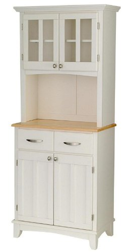 Cheap Buffet Hutch with Natural Wood Top in White Finish (VF_HY-5001-0021-12)