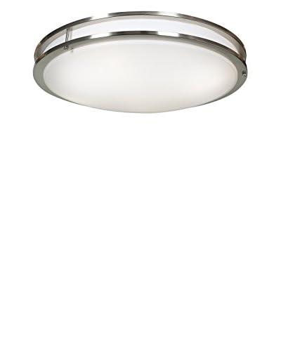 Access Lighting Solero 6-Light Flush Mount, Brushed Steel/White