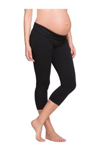 Ingrid And Isabel Bellyfit Maternity Active Fitness Pant - Capri - Black - Medium front-1018789