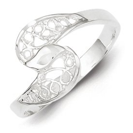 Genuine IceCarats Designer Jewelry Gift Sterling Silver Filigree Ring Size 6.00