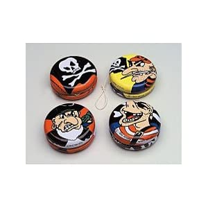 Click to buy Pirate Birthday Party Ideas: metal Pirate Yoyos from Amazon!