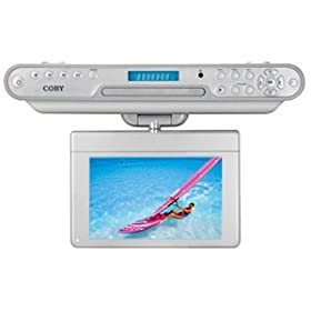 Coby KTFDVD7093 7-Inch Under-The-Cabinet LCD TV with Built-In DVD/CD Player a...