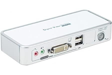 Dexlan Switch KVM 2 ports DVI/USB + Audio