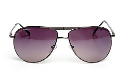 Airforce - Lunettes de soleil - Homme gris Gunmetal Grey Frame, Purple Tinted Lense