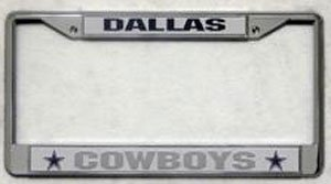 Dallas Cowboys Chrome License Plate Frame (Quantity of 2) by NFL