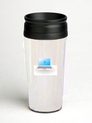 16 oz. Double Wall Insulated Tumbler with laptop - Paper Insert