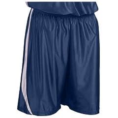 Teamwork Downtown Dazzle Basketball Shorts 7-NAVY WHITE A3XL-9 INSEAM by Teamwork