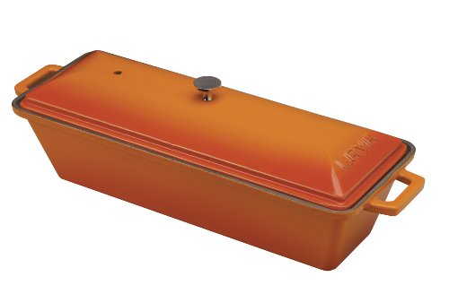 Lava Enameled Cast-Iron Bread/Terrine Pot - 3 X 10 Inch, Orange Spice front-575562