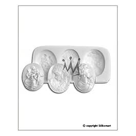 Silikomart Sugar Flex silicona moldes Cameo-Relief