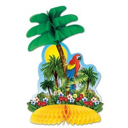 Tropical Island Centerpiece Party Accessory (1 count) (1/Pkg) (Parrot Party Supplies compare prices)