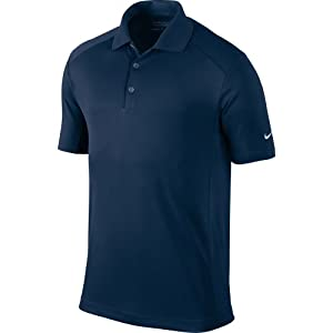 Nike Golf 2014 Dri-FIT Victory Polo Pitch Blue/White Medium
