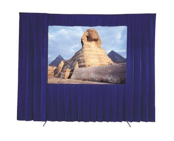 Da-Lite 9' x 9' Square Format Portable Rental Screen Dress Up Kit with Adjustable Skirt Bar