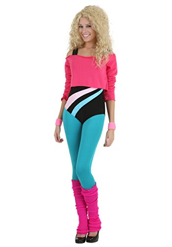 Fun Costumes womens Women's 80's Workout Girl. 4 Sizes, XS, S, M, L