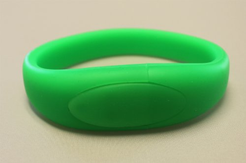 Green USB 4GB Flash Drive Bracelet