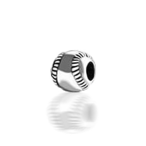 Bling Jewelry Baseball 925 Sterling Silver Sports Bead Pandora Compatible