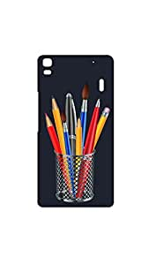 Bunch Of Drawing Penciles in Stand Mobile Back Cover/Case For Lenovo K3 Note