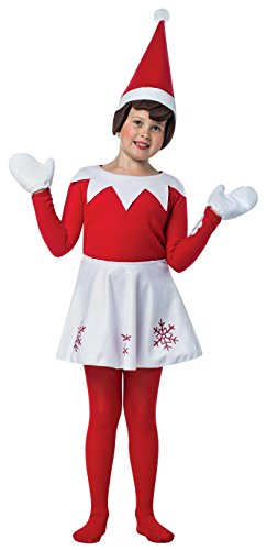 Elf on the Shelf Dress Costume For Girls