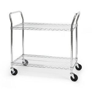 Best Chrome wire 18x36 2 shelf utility cart SHCART1836 BEF5958803