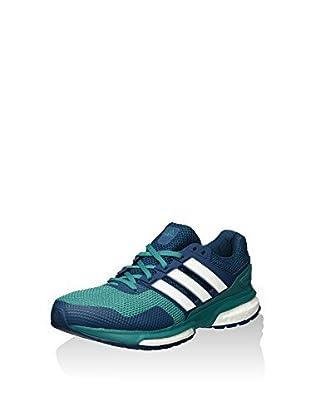 adidas Zapatillas Response 2 M (Azul Oscuro / Verde)