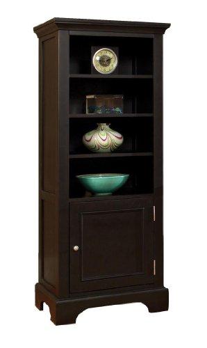 Home Styles Furniture Bedford 4 Shelf Wood Audio Rack/Bookcase in Ebony