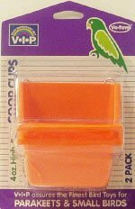 Cheap Vo-Toys 4oz High Back Coop Cup 2 pack for Birds Assorted Colors (814-74252)