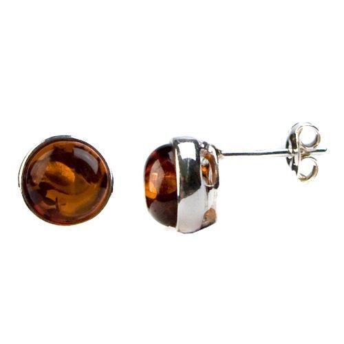 Sterling Silver Honey Amber Stud Earrings